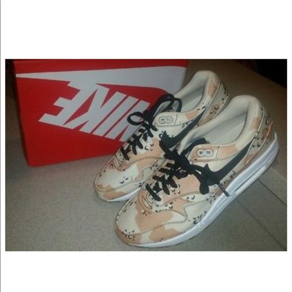 35a30e2623eed Nike Shoes | Air Max 1 Prm Camo Canvas Sneaker | Poshmark